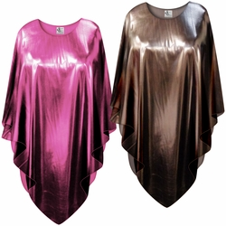 Metallic Pink or Copper Plus Size and Supersize Poncho
