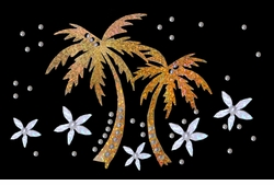 SALE! Metallic Mini Sparkly Gold Palm Tree Plus Size & Supersize T-Shirts S M L XL 2x 3x 4x 5x 6x 7x 8x
