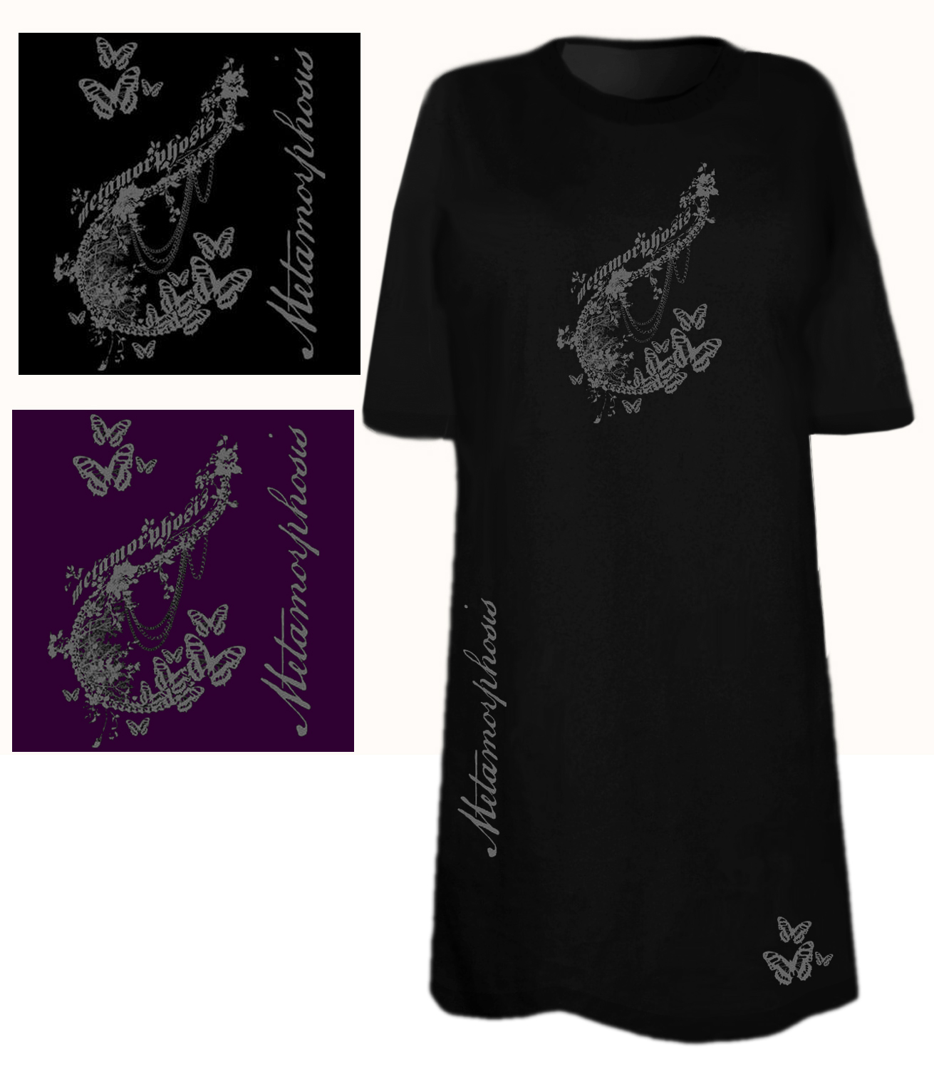 Sale Metamorphosis Tattoo Plus Size Supersize T Shirts