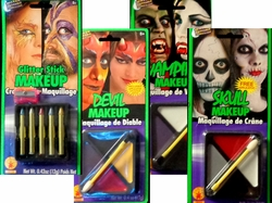 SALE! MINI-MAKEUP KITS! Glitter Sticks - Devil Makeup - Skull Makeup - Vampire - Makeup Mini Palette Kit
