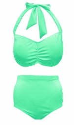 Mint Green 2 Piece Halter Swimsuit Plus Size Supersize 0x 1x 2x 3x 4x 5x 6x 7x 8x
