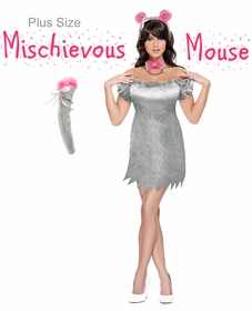 SALE! Mischievous Mouse Plus Size & Supersize Halloween Costume Dress / Accessory Kit! Lg XL 0x 1x 2x 3x 4x 5x 6x 7x 8x 9x
