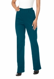 SOLD OUT! SALE! Mock Denim Deep Ocean Blue Relaxed 2 Pocket Bootcut Plus Size Stretch Legging Pants 3x/32