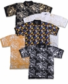 CLEARANCE! Mustard Jazzy Metallic or Multicolor Hats Print Plus Size Short Sleeve Polo Shirts 2x 4x