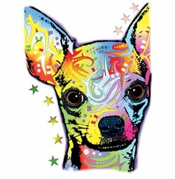 SALE! Neon Chihuahua Plus Size & Supersize T-Shirts S M L XL 2x 3x 4x 5x 6x 7x 8x (Lights Only)
