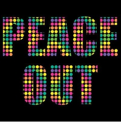 SALE! Neon Peace / Out (Double Sided) Plus Size & Supersize T-Shirts S M L XL 2x 3x 4x 5x 6x 7x 8x (All Colors)