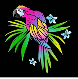 SOLD OUT! Neon Tropical Parrot Plus Size & Supersize T-Shirts S M L XL 2x 3x 4x 5x 6x 7x 8x (All Colors)