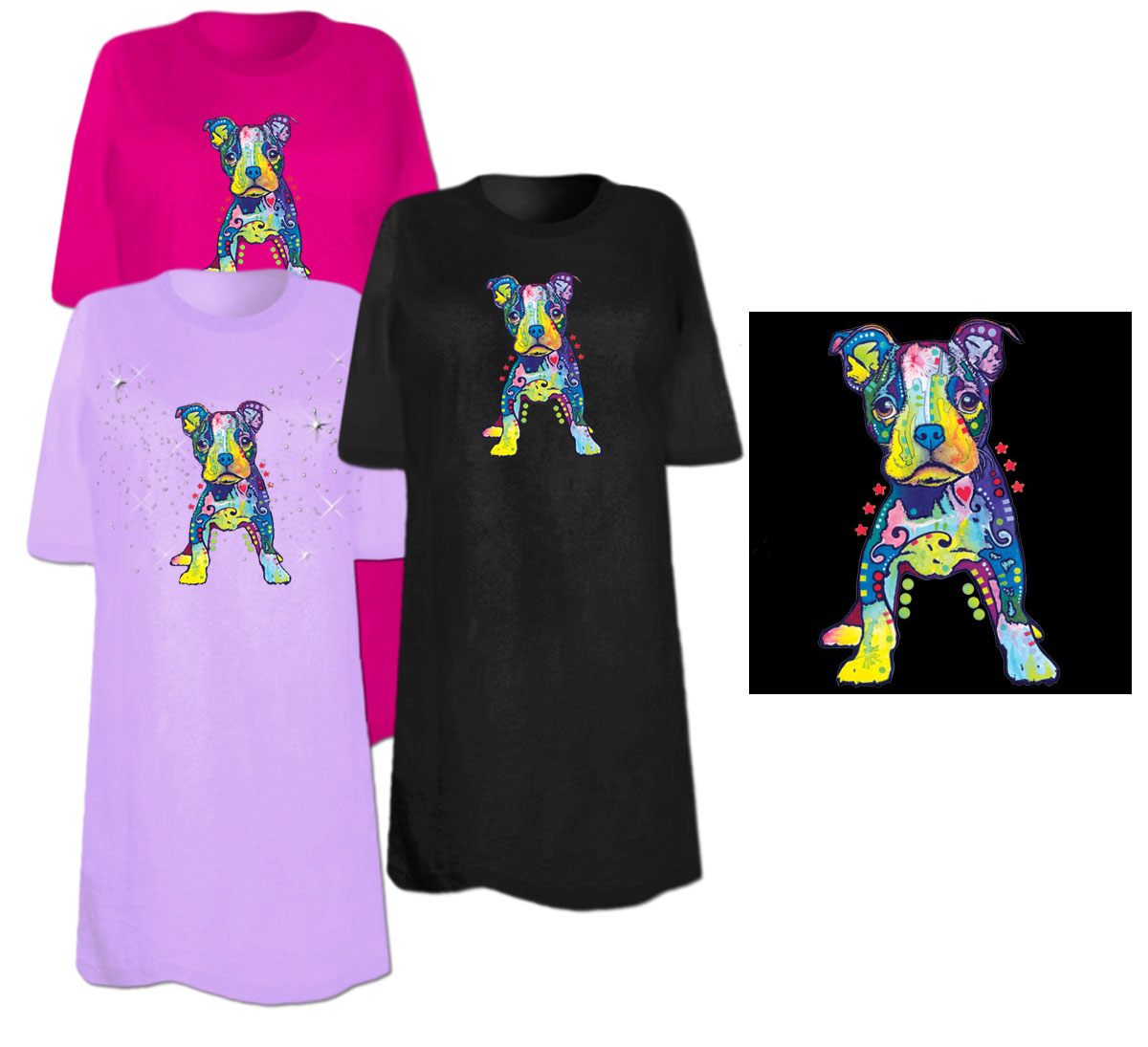Sale on my own boston terrier pup neon blacklight plus for 3x shirts on sale