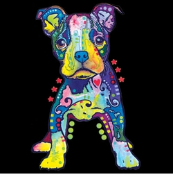 SOLD OUT! On My Own Boston Terrier Pup Neon Blacklight Plus Size & Supersize T-Shirts S M L XL 2x 3x 4x 5x 6x 7x 8x (All Colors)