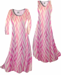 SOLD OUT! Opalescent Pink Zebra Slinky Print  Plus Size & Supersize Standard or Cascading A-Line or Princess Cut Dresses & Shirts, Jackets, Pants, Palazzo's or Skirts Lg to 9x