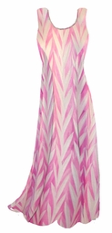 SOLD OUT! Opalescent Pink Zebra Slinky Print Princess Cut Slinky Plus Size Tank Dress 1x 2x 3x 4x 5x 6x 7x 8x 9x