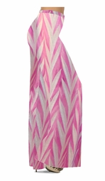 SOLD OUT! Opalescent Pink Zebra Slinky Print Special Order Plus Size & Supersize Pants, Capri's, Palazzos or Skirts! Lg to 9x