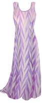 SOLD OUT! Opalescent Purple Zebra Slinky Print Princess Cut Slinky Plus Size Tank Dress 1x 2x 3x 4x 5x 6x 7x 8x 9x