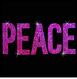 SALE! Peace in Pink Sequins Plus Size & Supersize T-Shirts S M L XL 2x 3x 4x 5x 6x 7x 8x 9x (All Colors)