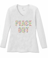 SALE! Peace Out Long Sleeve Plus Size Shirt Brown Black Purple 3x 4x 5x