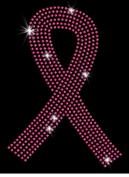 SALE! Pink Breast Cancer Support Ribbon Sparkly Rhinestuds Plus Size & Supersize T-Shirts S M L XL 2x 3x 4x 5x 6x 7x 8x 9x (All Colors)
