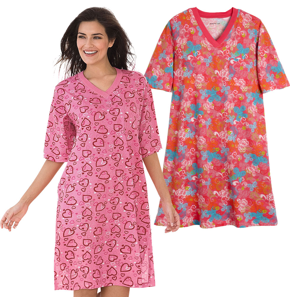 Sold Out Pink Hearts Or Red Butterflies Plus Size Sleep Shirts 5x6x