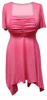 SOLD OUT! Pink Poly Cotton Plus Size Babydoll Style T-Shirt 6x