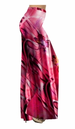 SOLD OUT!!!!!!!!!!!!!!!!!!!!!!!!!!! Pink & Purple Abstract Floral Print Special Order Customizable Plus Size & Supersize Pants, Capri's, Palazzos or Skirts! Lg to 9x