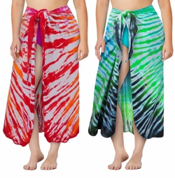 NEW! Plus Size Tie Dye Sarong - Swimsuit Coverup - 0x 1x 2x 3x 4x 5x 6x 7x 8x 9x