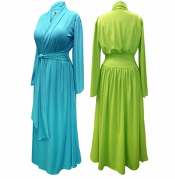 NEW! Solid Color Poly/Cotton Robe With Attached Belt - Plus Size Supersize 0x 1x 2x 3x 4x 5x 6x 7x 8x 9x