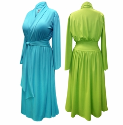 Coming Soon! NEW! Solid Color Poly/Cotton Robe With Attached Belt - Plus Size Supersize 0x 1x 2x 3x 4x 5x 6x 7x 8x 9x