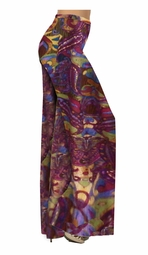 SOLD OUT!!!!!!!!!!!!!!!!!! Pretty Abstract Burgundy -Purple - Aqua - Brown Print Slinky Plus Size Special Order Customizable Plus Size & Supersize Pants, Capri's, Palazzos or Skirts! Lg to 9x