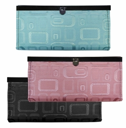 SOLD OUT! NEW! Black, Pink or Green Embossed Wallets