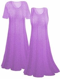 SOLD OUT! Pretty Lavender and Glimmer Ribbed Summer Slinky Plus Size & Supersize Customizable Shirts or Jackets Lg to 9x