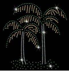 SALE! Pretty Palm Tree Pair Sparkly Rhinestuds Plus Size & Supersize T-Shirts S M L XL 2x 3x 4x 5x 6x 7x 8x 9x (All Colors)