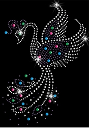 SALE! Pretty Phoenix Rising Sparkly Rhinestuds Plus Size & Supersize T-Shirts S M L XL 2x 3x 4x 5x 6x 7x 8x 9x (All Colors)