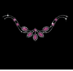 SALE! Pretty Pink Stones Neckline Sparkly Rhinestuds Rhinestones Plus Size & Supersize T-Shirts S M L XL 2x 3x 4x 5x 6x 7x 8x 9x (All Colors)