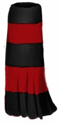 SOLD OUT!! New! Pretty Solid or Multi Black Red & White Plus Size Elastic Waist Crush Velvet Tiered Skirt 1x