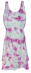 Hot Pink Marble Tank Poly Cotton Tie Dye Plus Size & SuperSize Sleeveless Tank 0x 1x 2x 3x 4x 5x 6x 7x 8x