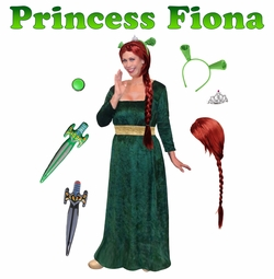 SALE! Plus Size Princess Fiona Costume from Shrek! Plus Size And Supersize Halloween Costume + Add Accessories! Sizes S-XL & Plus Size 1x 2x 3x 4x Supersize 5x 6x 7x 8x 9x