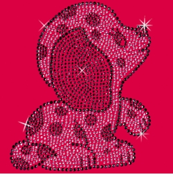 SALE! Puppy Rhinestone / Studs Plus Size & Supersize T-Shirts S M L XL 2x 3x 4x 5x 6x 7x 8x 9x (All Colors)