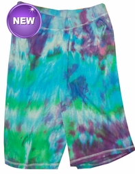 SALE! Purple, Blue, Green or Black Tie Dye on Gray Plus Size Shorts Md 5x  - <font color=red>Buy More & Save!</font>