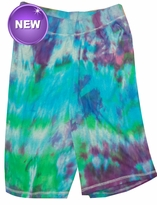 SALE! Purple, Blue, Green Tie Dye on Gray Plus Size Shorts 5x