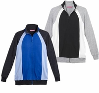 SOLD OUT! Black & Gray, or Blue & Black Zippered Active Jackets in Plus Sizes 3x 4x