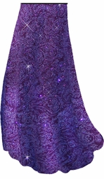 SOLD OUT! Purple Paisley Glitter Slinky Print Special Order Customizable Plus Size & Supersize Pants, Capri's, Palazzos or Skirts! Lg to 9x
