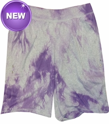 SALE! Purple Tie Dye on Gray Plus Size Shorts Md & 5xl - <font color=red>Buy More & Save!</font>