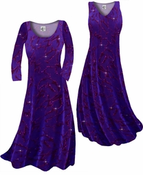 SOLD OUT! Customize Purple With Hot Pink Glitter on Velvet Animal Stripes Slinky Print Plus Size & Supersize Standard or Cascading A-Line or Princess Cut Dresses & Shirts, Jackets, Pants, Palazzo's or Skirts Lg to 9x