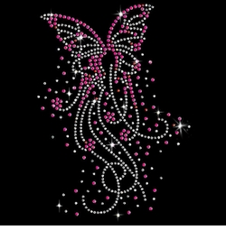 SALE! Butterfly Bursts Sparkly Rhinestuds Plus Size & Supersize T-Shirts S M L XL 2x 3x 4x 5x 6x 7x 8x 9x (All Colors)