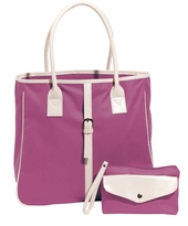 SOLD OUT! FINAL SALE! Raspberry Shopper Tote Bag - 2 PIECE SET