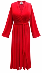 Solid Color Flowy Poly/Cotton Robe - Plus Size Supersize 0x 1x 2x 3x 4x 5x 6x 7x 8x 9x