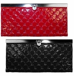 NEW! Red or Black Embossed Wallets