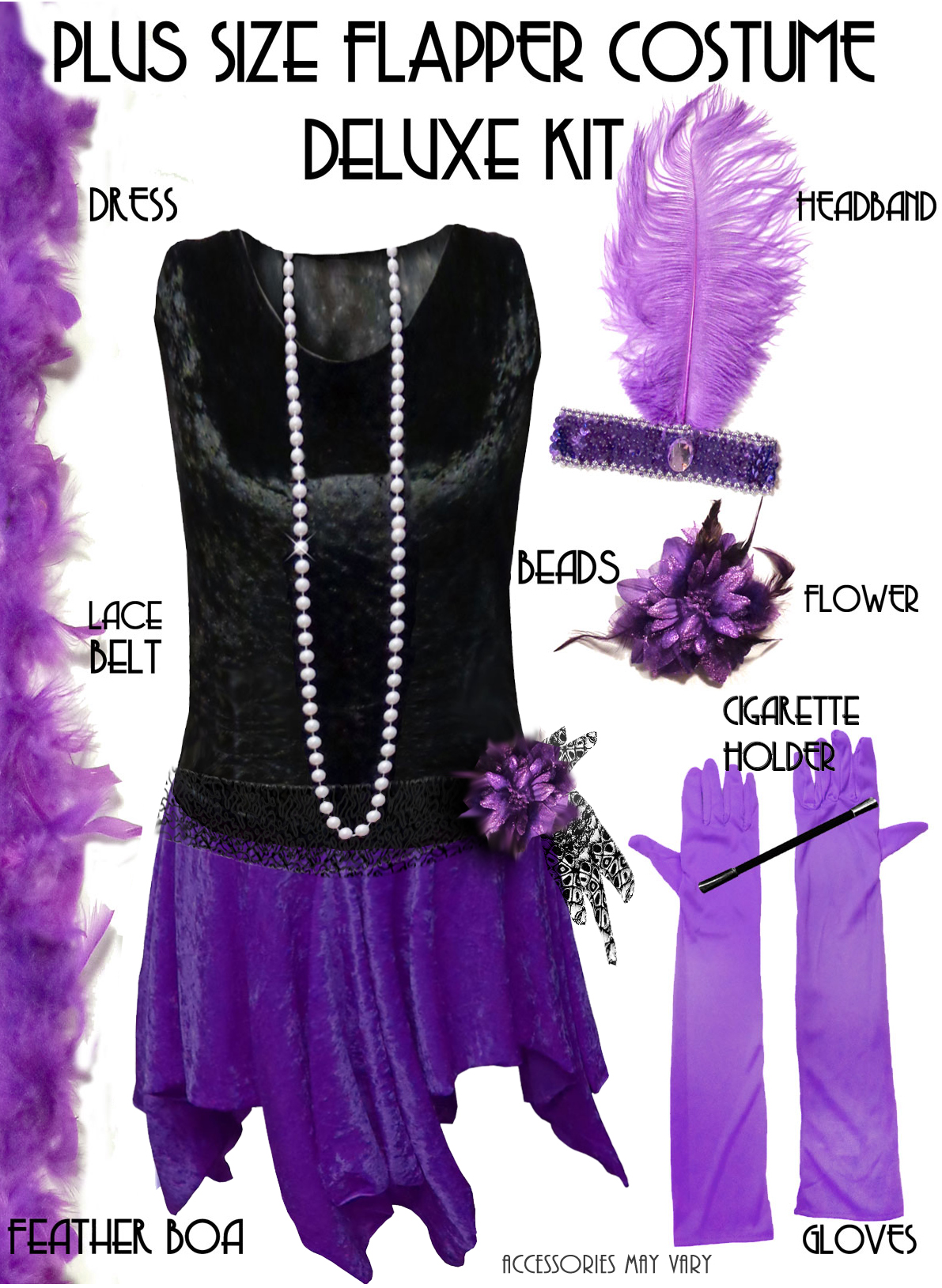 Sale Plus Size Roaring 20 S Purple Amp Black Flapper