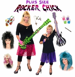 SALE! Rocker Chick Pop Star Plus Size Costume Supersize Halloween Costume + Add Accessories! Sizes Lg XL 1x 2x 3x 4x 5x 6x 7x 8x 9x