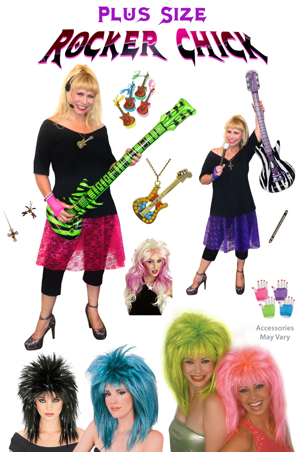 Rocker Chick Pop Star Plus Size Costume Supersize Halloween Costume + Add Accessories! Sizes Lg XL 1x 2x 3x 4x 5x 6x 7x 8x 9x  sc 1 th 275 : rocker chick halloween costume  - Germanpascual.Com