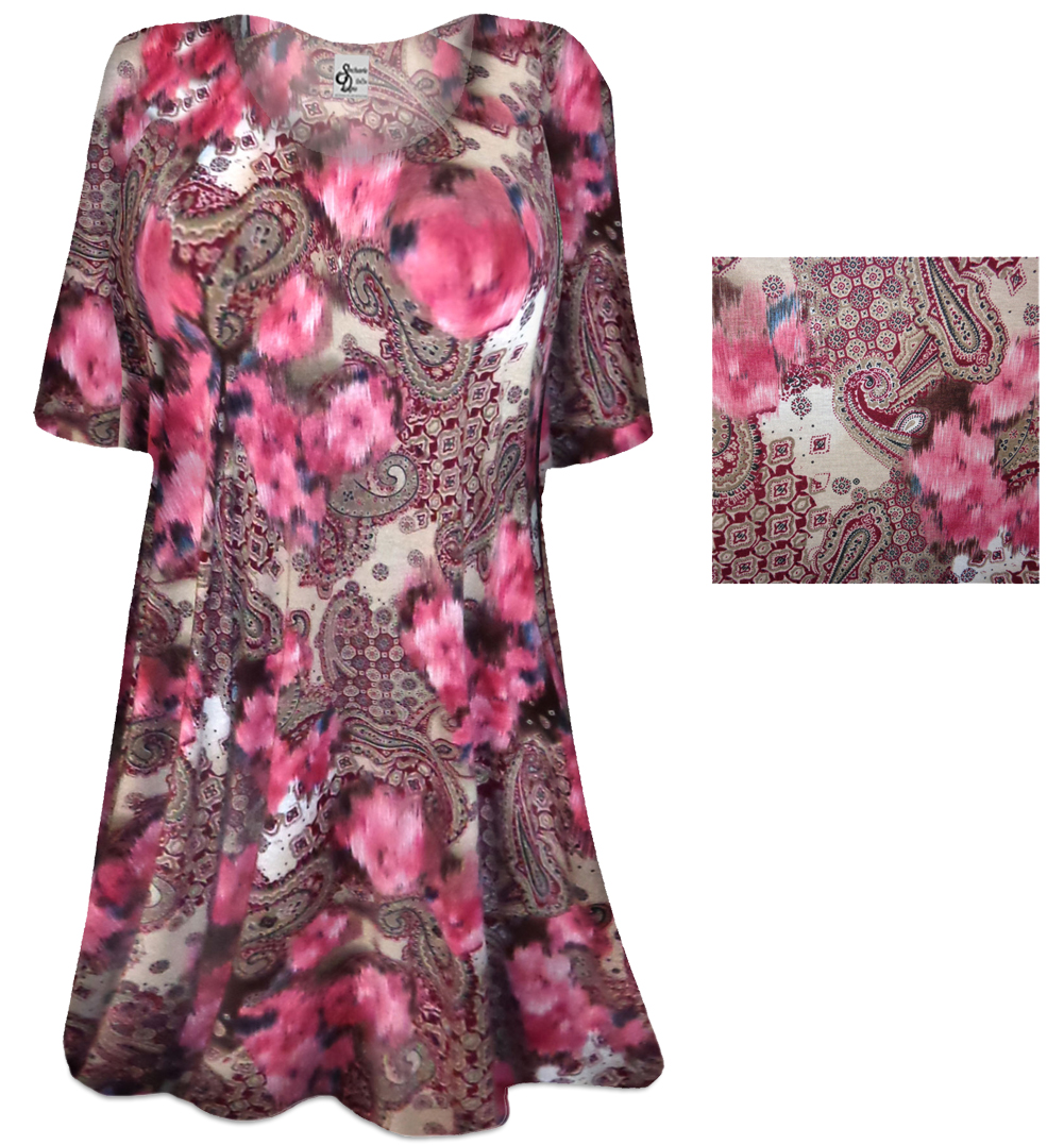 Sold Out New Romantic Paisley Print Plus Size